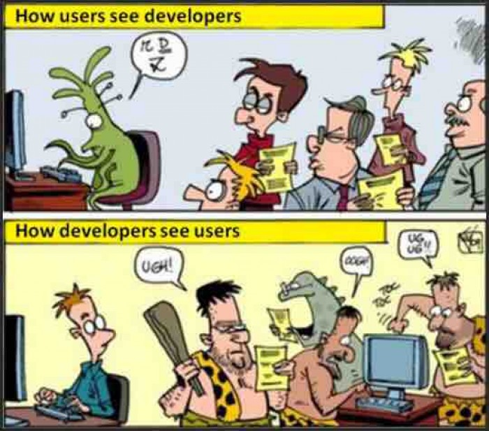How programmers see users and vice versa