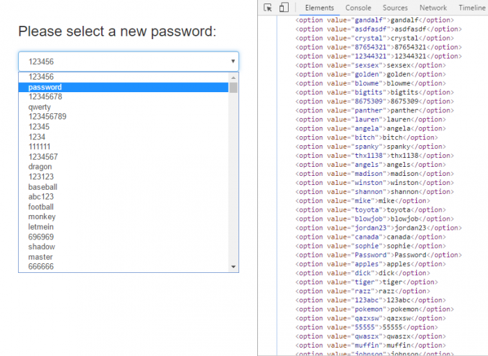 Please select a new password