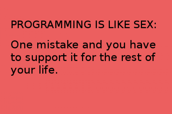 Programming is like sex...