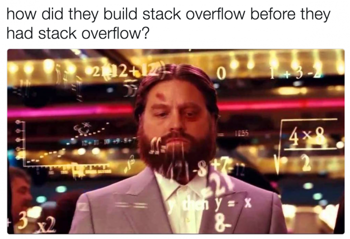 How did they build stack overflow before they had stack overflow?