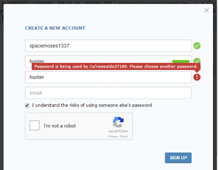 Logins should be unique