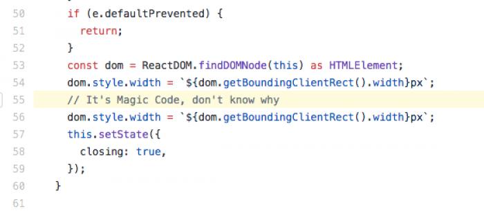 Found some Magic Code on AntDesign