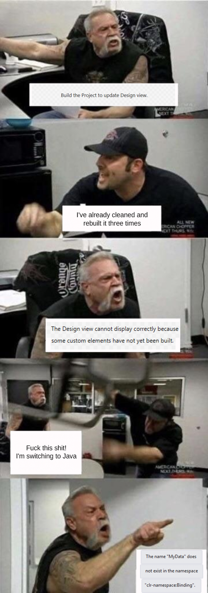 Designing XAML in Visual Studio be like