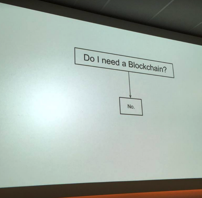 Slide about blockchains...