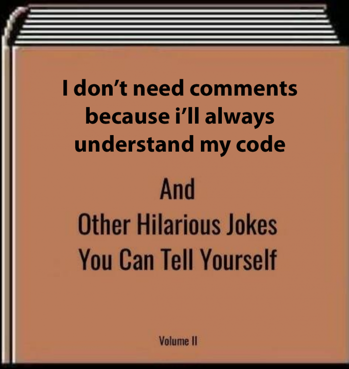 My code always reads like prose