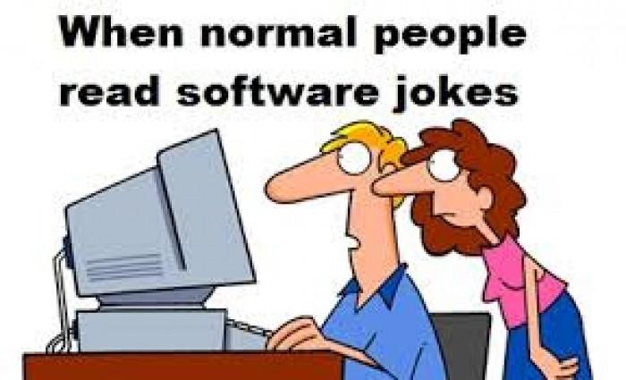Normal people vs software jokes