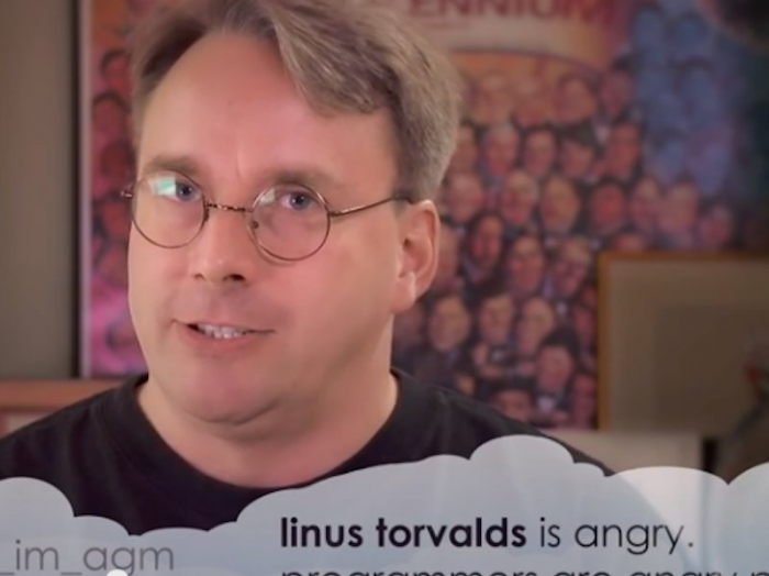 An appropriate summary of Linus Torvalds