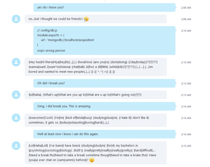 So I accidentally broke a Skype messaging bot..