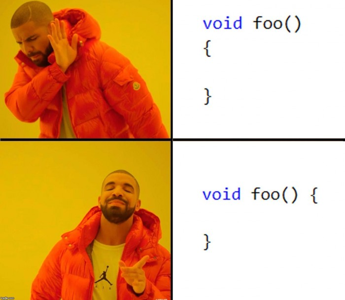 Indent style
