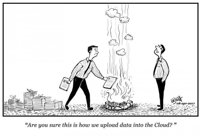 Upload data into the Cloud