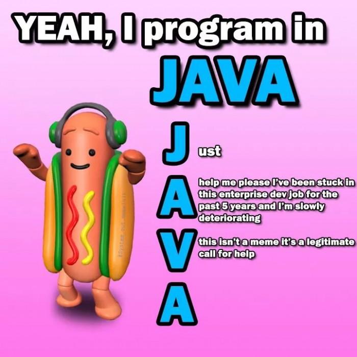I program in java