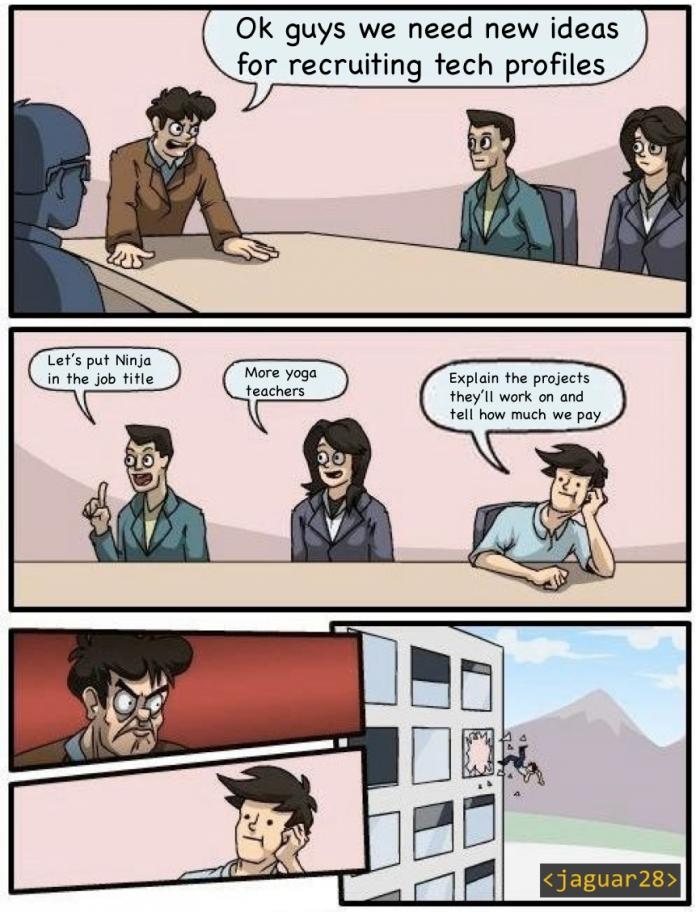 We need more ninja developers.
