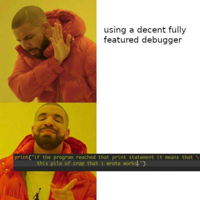 Why a decent debugger?