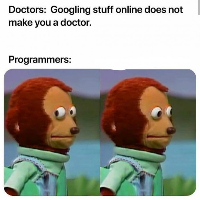 Googling stuff online doesn't make you a doctor