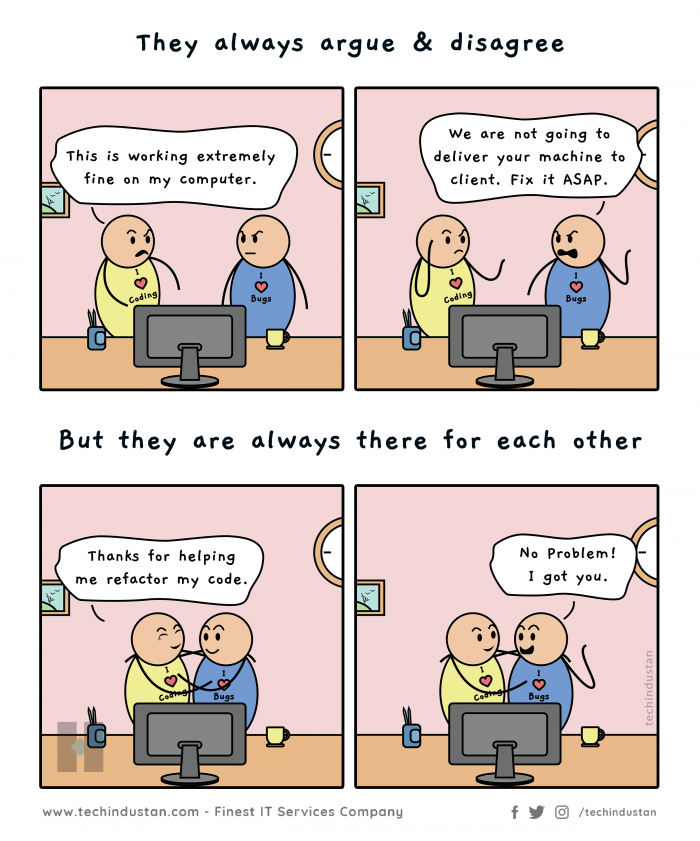 That's how programmers and testers show love to each other | Programmer Tester Fun Comic