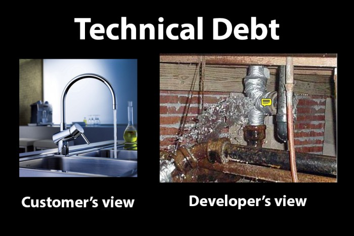 Technical dept : customer vs developer