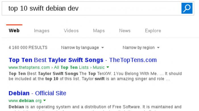Swift developpment on debian - Still searching
