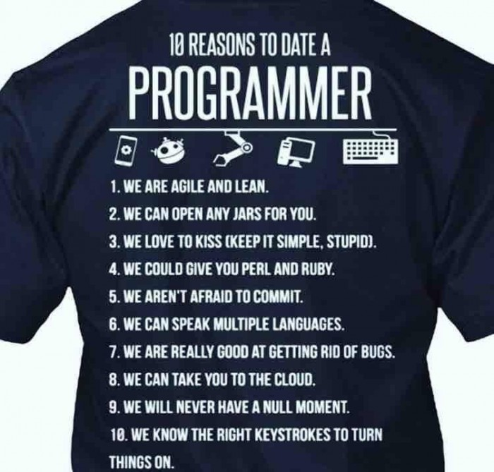 10 reasons to date a programmer