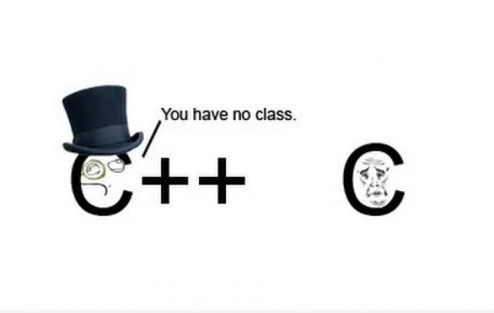 You have no class, C!