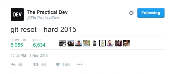 git reset --hard 2015