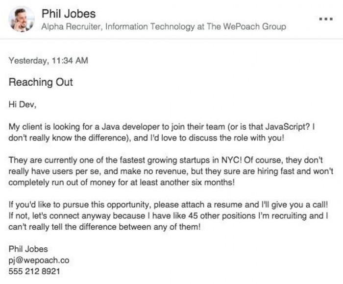 Honest tech recruiter