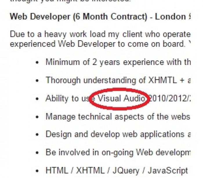 Recruiter sent me a job opportunity. Look at the job description...