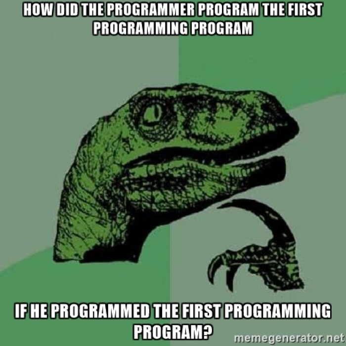 The first programming program