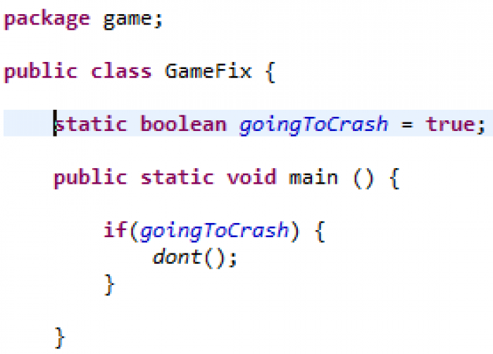 How people who complain about crashes think programming works.