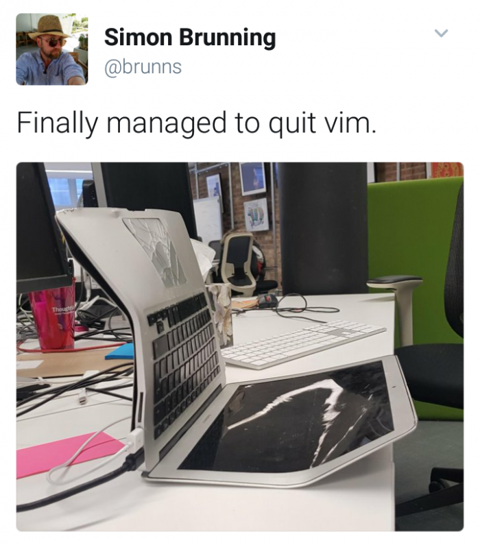 Finally managed to quit vim.