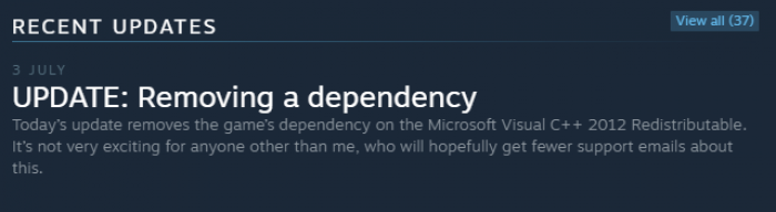 Happy dev spotted on steam