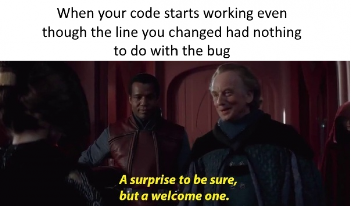 When code starts working