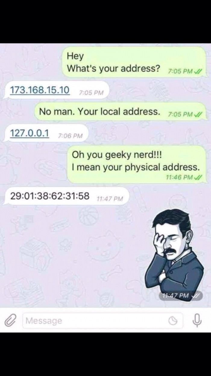 My address