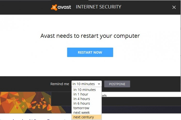 Avast does not have immediate needs