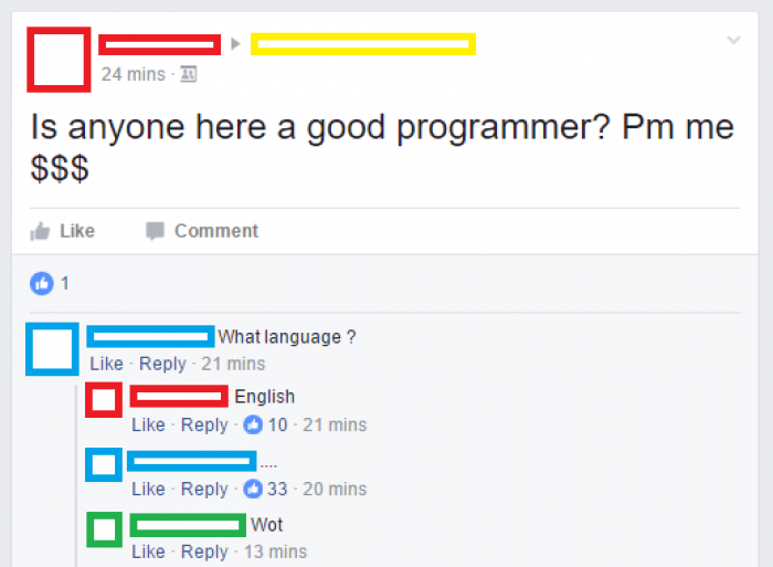 English programming language