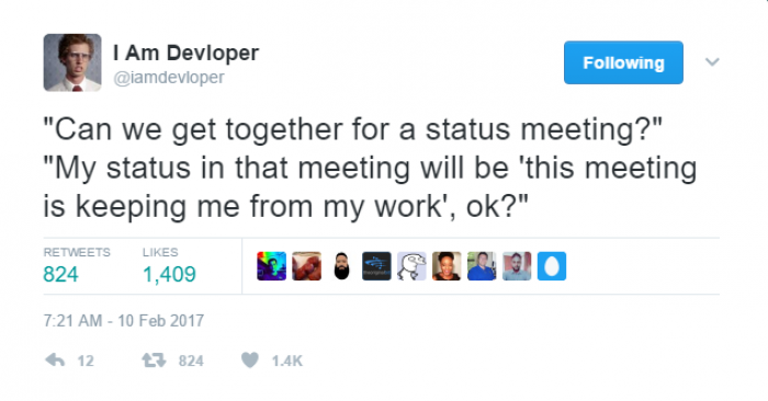 Can we get together for a status meeting?