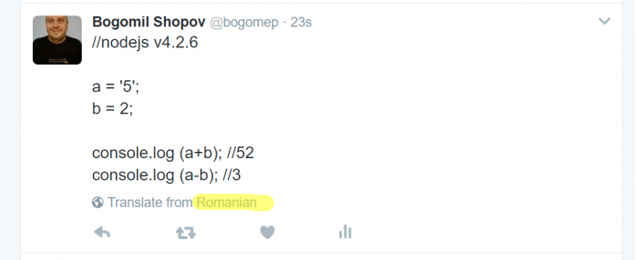 Can you programm in ...Romanian?