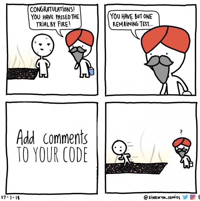 Writing comments in your code