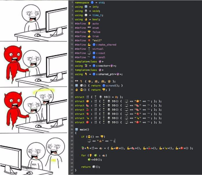 Emoji programming.