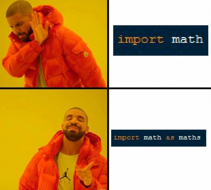 import math