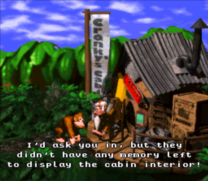 Donkey Kong Country (SNES, 1994) Programmer Humor