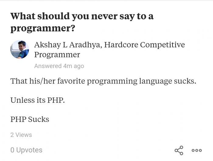 Oh PHP !