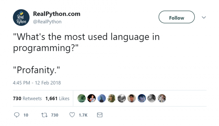 What's the most used language in programming?