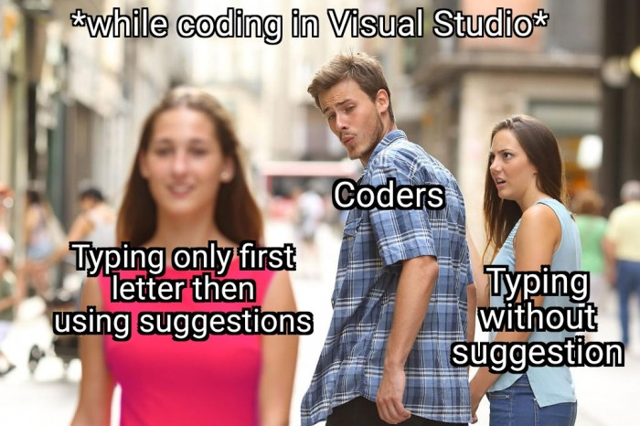*while coding in Visual Studio*