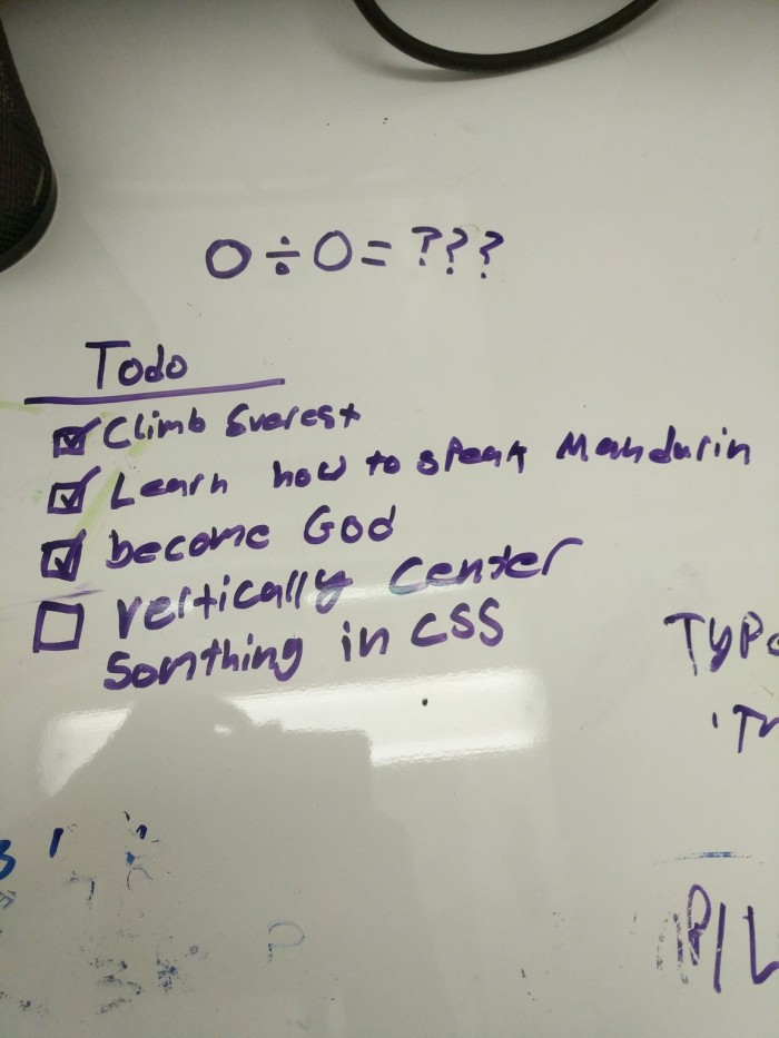 Front end developers Todo list.