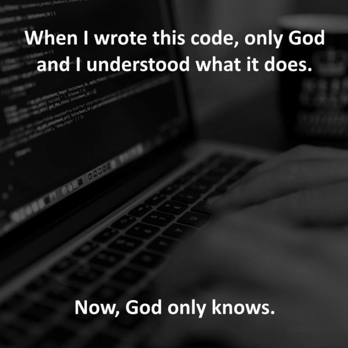 When I wrote this code