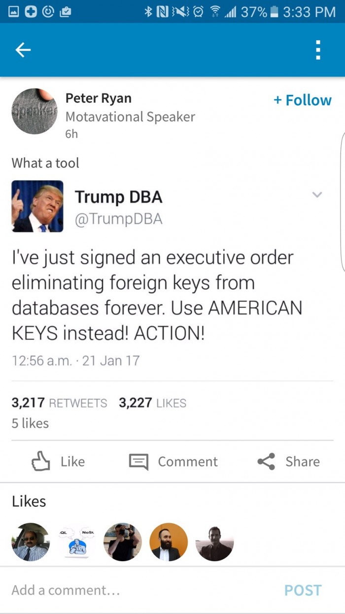 Make databases great again