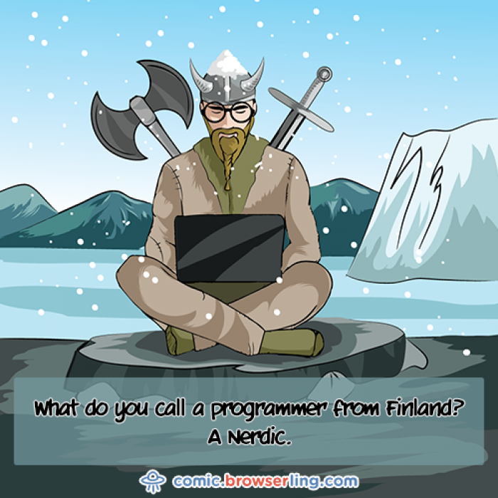What do you call a programmer from Finland?...