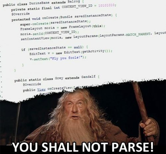 You shall not parse!