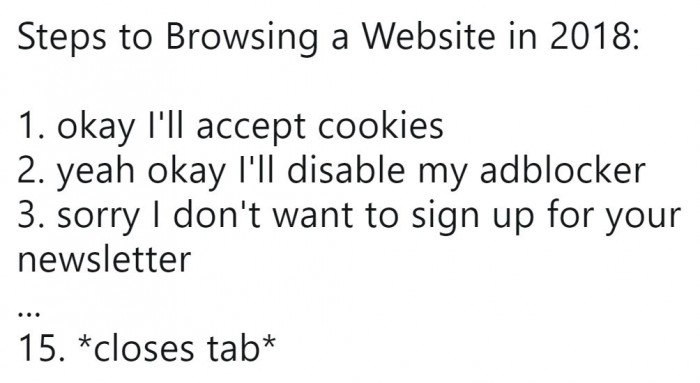 Steps to Browsing a Website in 2018: