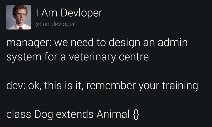 class Dog extends Animal {}